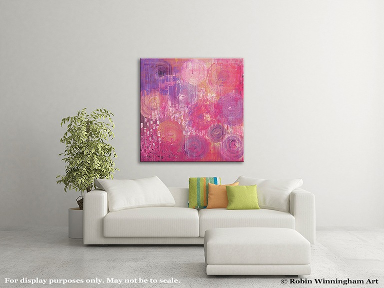 100% Hand-Painted Original Abstract Painting on Canvas – Wonderland ...